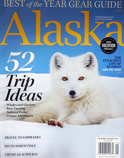 January 2016 Alaska Magazine Cover